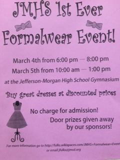 Formalwear Event!