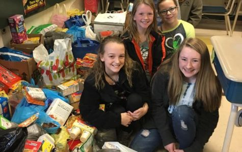 Elementary Student Council Collects Food For JM'S Weekend Food Program