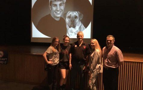Brandon's Dad Visits Students of Jefferson-Morgan
